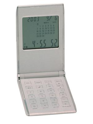 Pocket clock calculator/calendar