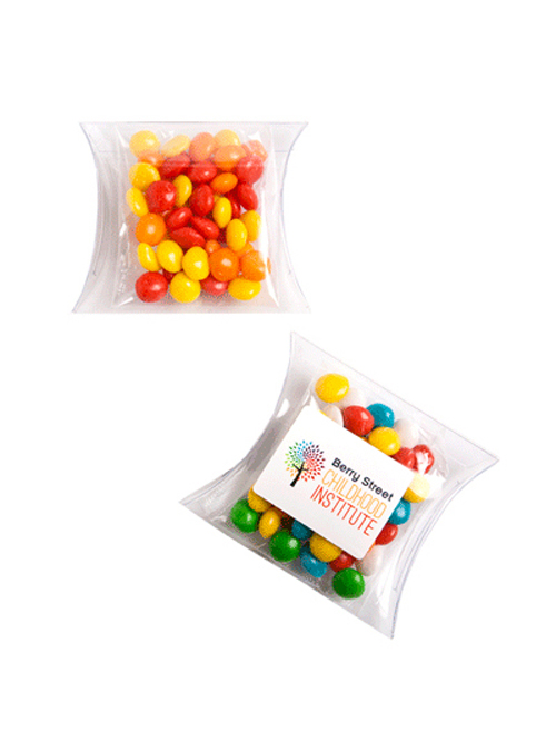 Chewy Fruits (Skittle Look Alike) in PVC Pillow Pack 50G