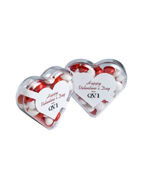 Acrylic Heart Filled with Chewy Fruits 50G