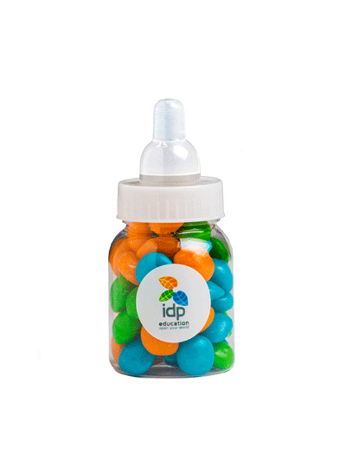 Baby Bottle Filled with Chewy Fruit (Mixed or Corp Colours) 50G
