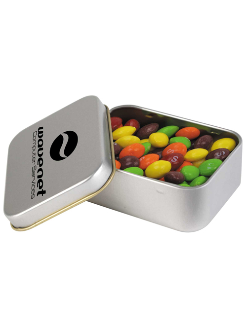 Assorted Fruit Skittles in Silver