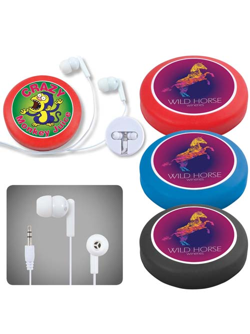 Earphone / Headphone Set in Silicone Case