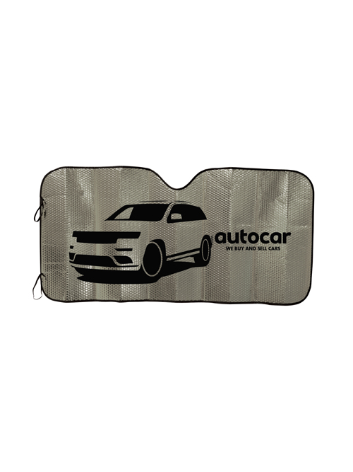 Concertina Metallic Car Sunshade